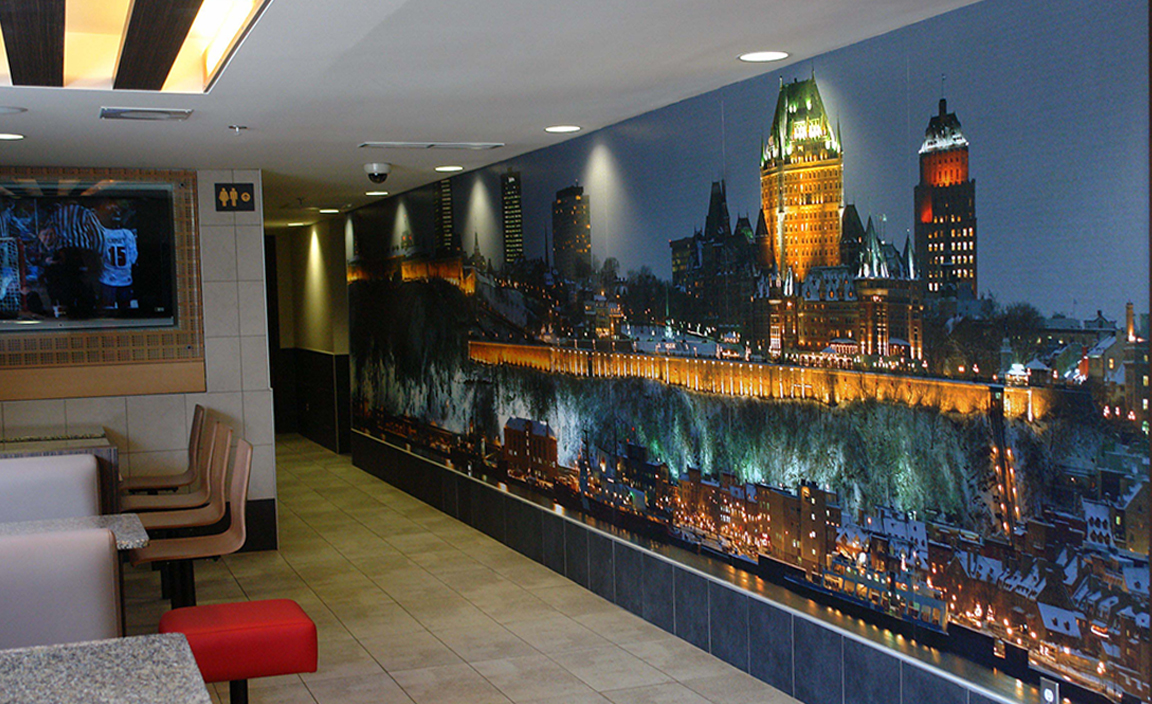 Mc donald 39 s boulevard laurier qu bec groupe t tu inc for Deco murale quebec